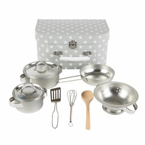 Sass & Belle Kitchen Cooking Box Grey Stars