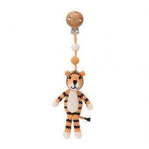 Sindibaba Kinderwagen-Clip / Rassel  mit Tiger