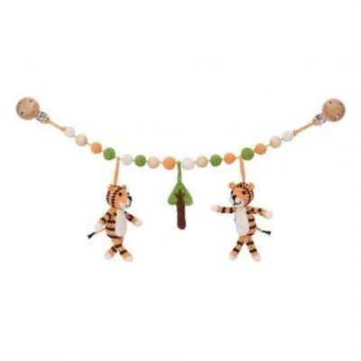 Sindibaba Stroller chain Tiger with rattle
