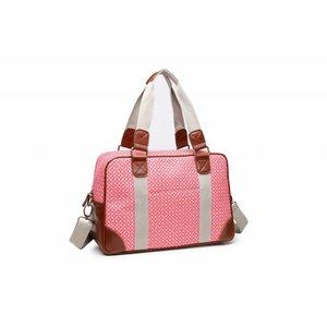 Blossify by Blossify Handbag Travel Bag Geometric Rose red