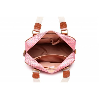 Blossify by Blossify Handtasche Travel Bag Geometric Rose red
