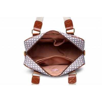 Blossify by Blossify Handbag Travel Bag Geometric Rose brown