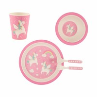 Sass & Belle Tableware set Bamboo Unicorn