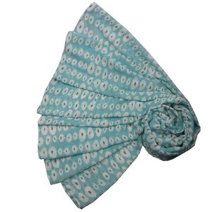 M&K Collection Scarve Linked Ovals light green
