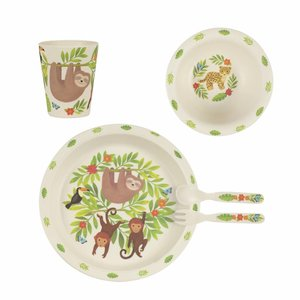 Sass & Belle Tableware set Bamboo Treetop Friends