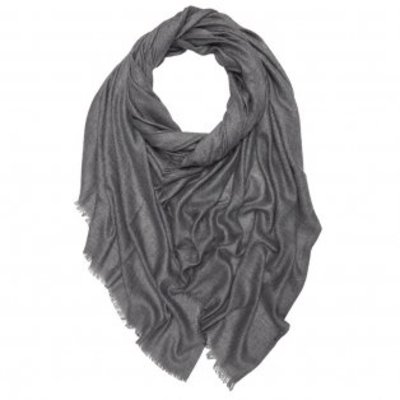 Pure & Cozy Schal Cotton/Wool Powder charcoal