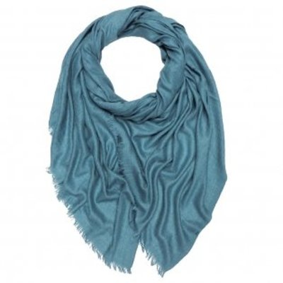 Pure & Cozy Scarf Grain Cotton / Wool blue teal