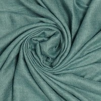 M&K Collection Schal Grain Cotton/Wool green teal