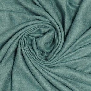 M&K Collection Scarf Grain Cotton / Wool green teal