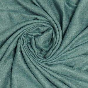 M&K Collection Schal Grain Cotton/Wool green teal