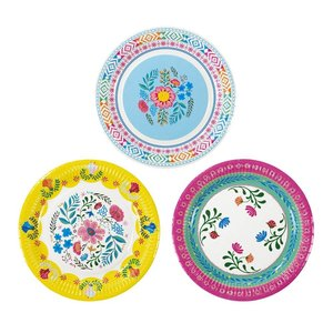 Talking Tables Plates Boho Floral medium