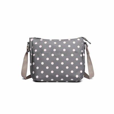 Blossify by Blossify Handbag Carry-All Bag Dots Grey