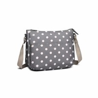 Blossify by Blossify Handbag Carry-All Bag Dots Grey