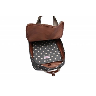 Blossify by Blossify Backpack  Dotty light grey