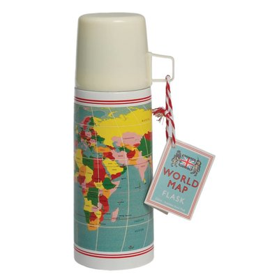 Rex London Flask and cup World Map