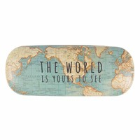 Sass & Belle Glasses Case Vintage Map