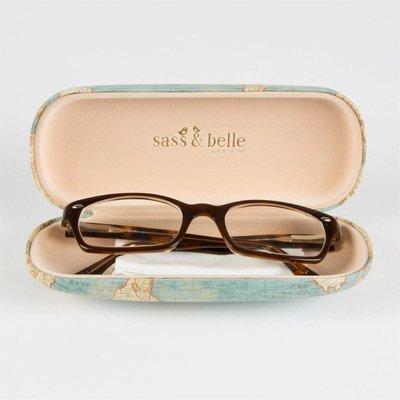 Sass & Belle Glasses Case Vintage Map
