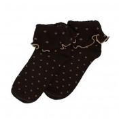 SALE Socken Ruffle Top Spots chocolate - SONDERANGEBOT