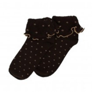 Forever England Socks Ruffle Top Spots chocolate