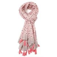 M&K Collection Scarf Geo Tassel pink
