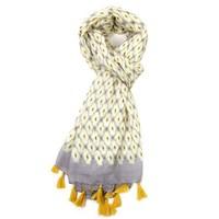 M&K Collection Scarf Geo Tassel yellow