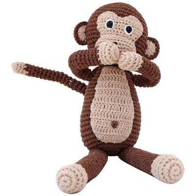 Sindibaba Monkey with rattle, brown