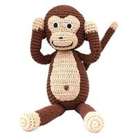 Sindibaba Monkey with rattle, brown