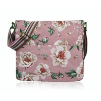 Huiskamergeluk Handtasche Cross-over Bag Canvas Wild Rose dusty pink