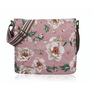 Huiskamergeluk Handtasche Cross-over Bag Canvas Wild Rose dusty pink