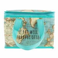 Sass & Belle Lunch Bag Vintage Map