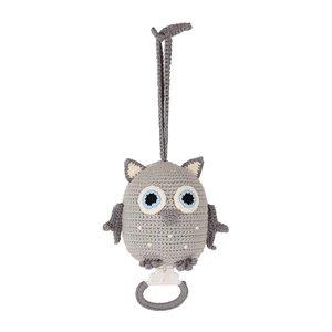 Sindibaba Music box Owl grey