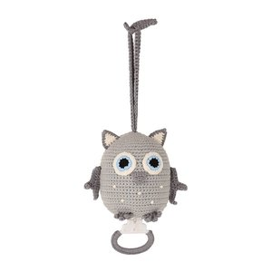 Sindibaba Musical companion Owl grey