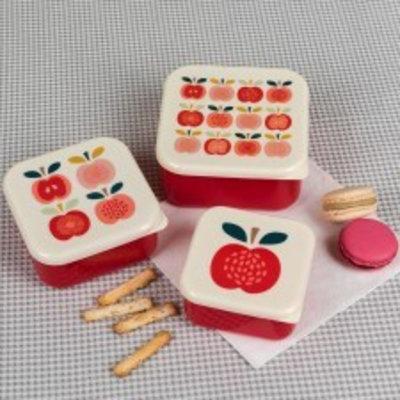 Rex London Snack-Boxen 3er-Set Vintage Apple
