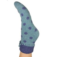 Joya Socks Woolmix extra thick Spotty blue/blue