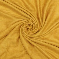 M&K Collection Schal Grain Cotton/Wool mustard