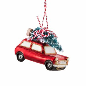 Sass & Belle Christmas Decoration Red Car