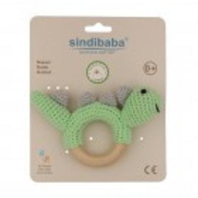 Sindibaba Rassel Dino am Holzring green