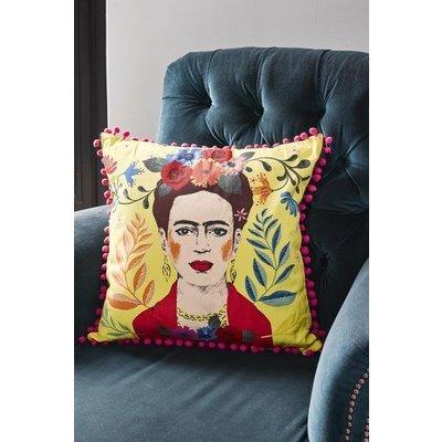 Talking Tables Cushion Frida Kahlo yellow