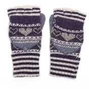 M&K Collection Handschuhe Heart/Stripes purple