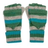 M&K Collection Handschuhe Stripes green