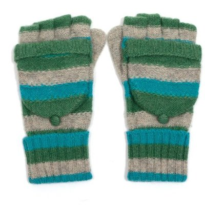 M&K Collection Gloves Stripes green
