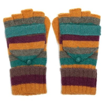 M&K Collection Handschuhe Stripes mustard