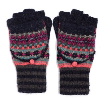 M&K Collection Handschuhe Shetland navy