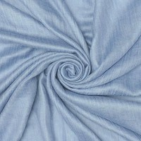 M&K Collection Scarf Cotton / Wool steal blue