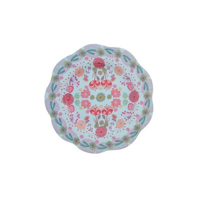 Overbeck and Friends Melamine plate Lilly-Rose big