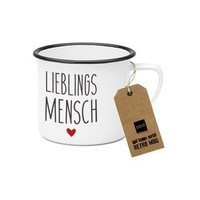 Paperproducts Design Emaille Becher Lieblingsmensch