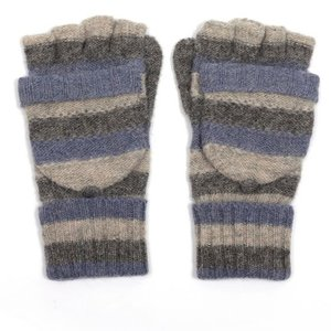 M&K Collection Handschuhe Stripes grey blue