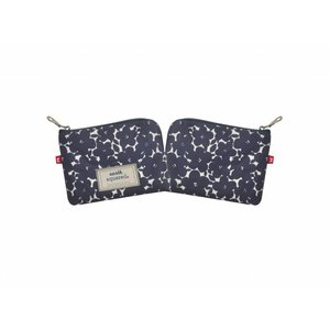 Earth Squared Freya purse Navy Flower