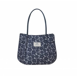 Earth Squared Freya Bag Navy Flower