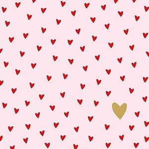 Paperproducts Design Paper Napkins  Little Hearts
